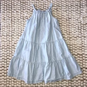 Hanna Andersson Chambray Summer Dress boho Sz 120